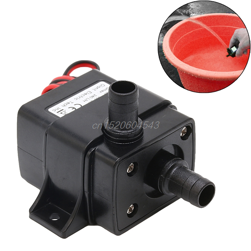 Mini DC12V 3M 240L/H Brushless Motor Submersible Water Pump R06 Whosale&DropShip