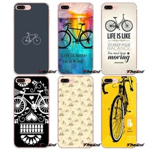 Love Bike Bicycles quotes Art Soft Case For Huawei G7 G8 P7 P8 P9 Lite Honor 4C 5X 5C 6X Mate 7 8 9 Y3 Y5 Y6 II 2 Pro 2017(China)