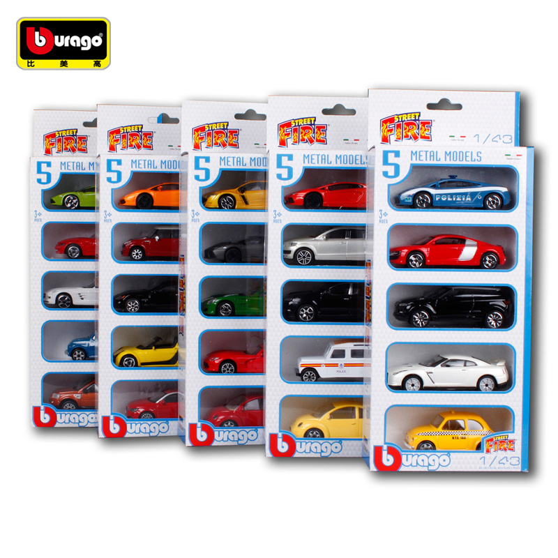 Bburago 1:43 Model toy car model toy car 5 model package children's toys Diecast Model Car Toy New In Box Free Shipping 1 43 luxury car model audi rs5 coupe diecast model car 3 colors classic toys car replica