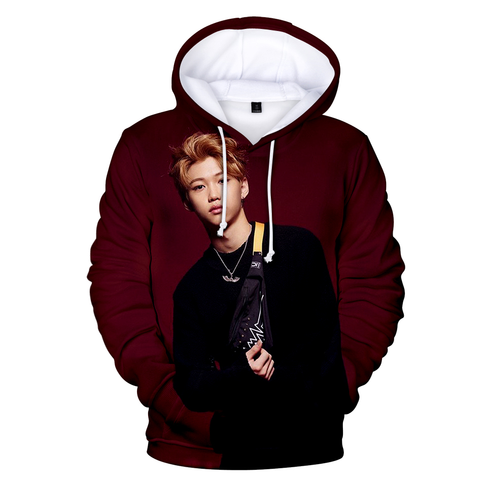 latest stray kids LEE FELIX 3D hoodies men/women fashion stray kids LEE FELIX 3D printing men hooded sweatshirt XXS-4XL