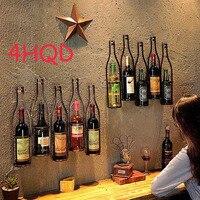 Ретро Вино подставка для подвешивания на стену Гостиная обеденный бар винный шкаф украшения Творческая стены кулон