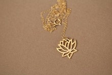 big fashion new style Silver plating rose gold plating necklace pure lotus pendant necklace gift for women A single sale