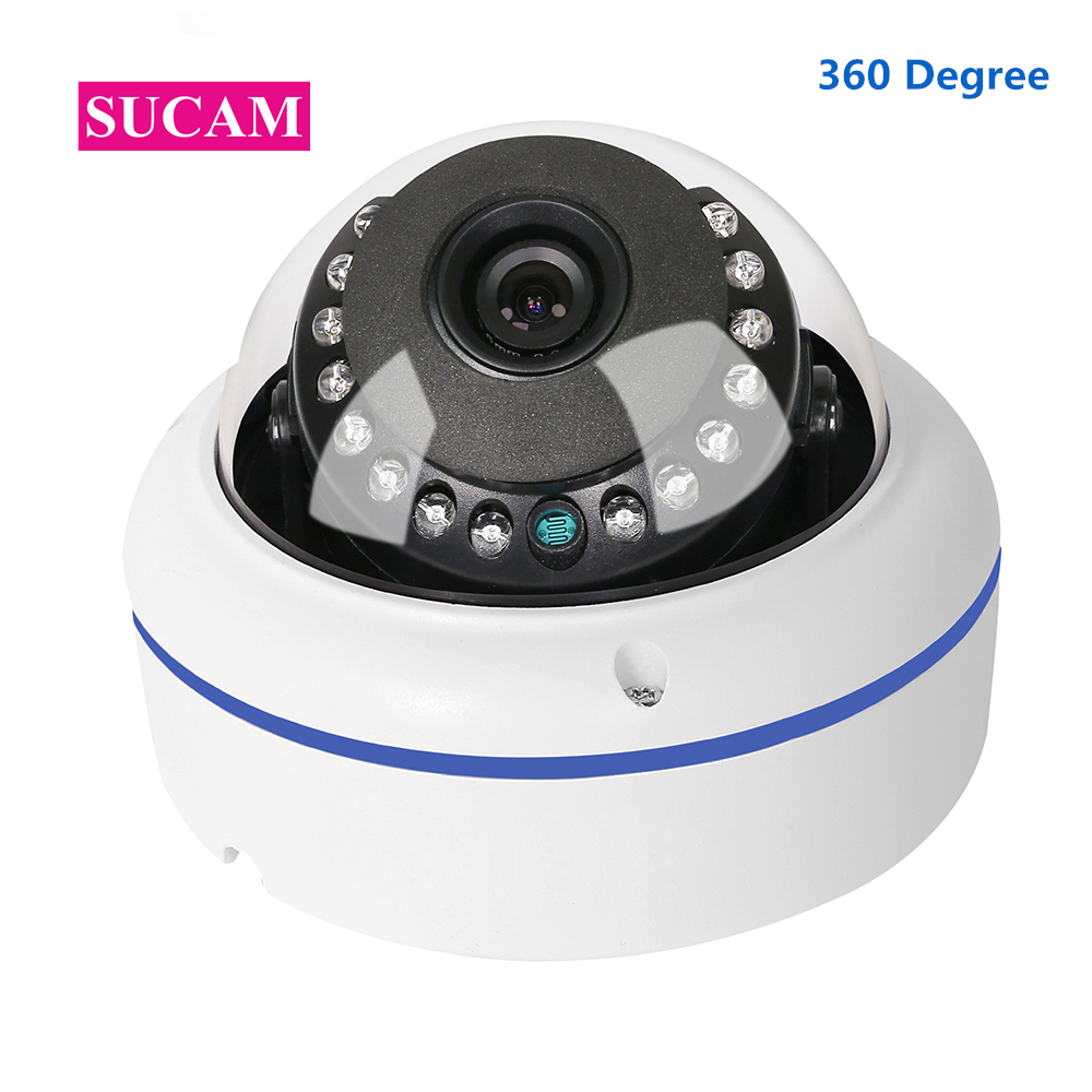 4MP AHD Camera Fisheye Wide Angle 360 Degree Fish Eye High Resolution Full HD Infrared Analog Surveillance Camera With OSD Cable