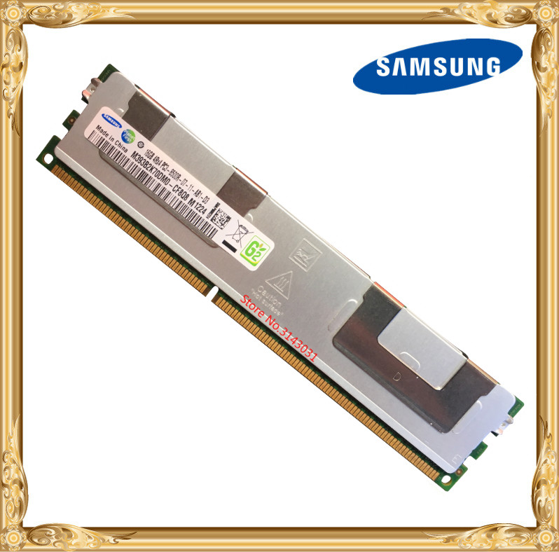 Samsung server memory <font><b>DDR3</b></font> 16GB <font><b>32GB</b></font> 1066MHz <font><b>ECC</b></font> REG Register DIMM PC3-8500R RAM 240pin 8500 16G 4Rx4 image