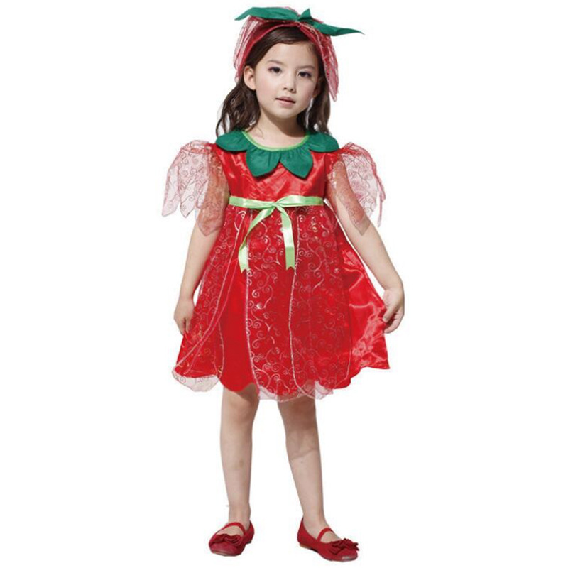 M XL Fashion Cute Girls Flower Fairy Costume Cosplay Childrenu0027s Day Princess Performance Red One piece Dress With Headdress-in Sexy Costumes from Novelty ...  sc 1 st  AliExpress.com & M XL Fashion Cute Girls Flower Fairy Costume Cosplay Childrenu0027s Day ...