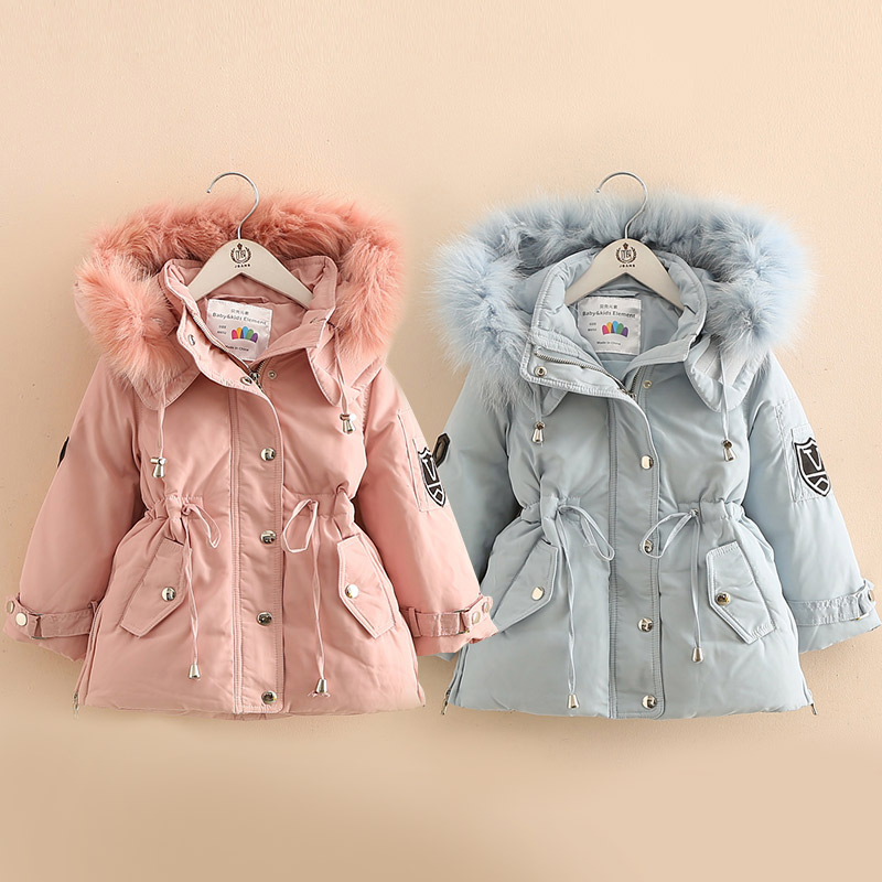 2018 Winter Warm Children'S Clothing Baby Girls Down Jacket Kids Hooded Thicken Coat Outwear Free Shipping 2016 winter new soft bottom solid color baby shoes for little boys and girls plus velvet warm baby toddler shoes free shipping