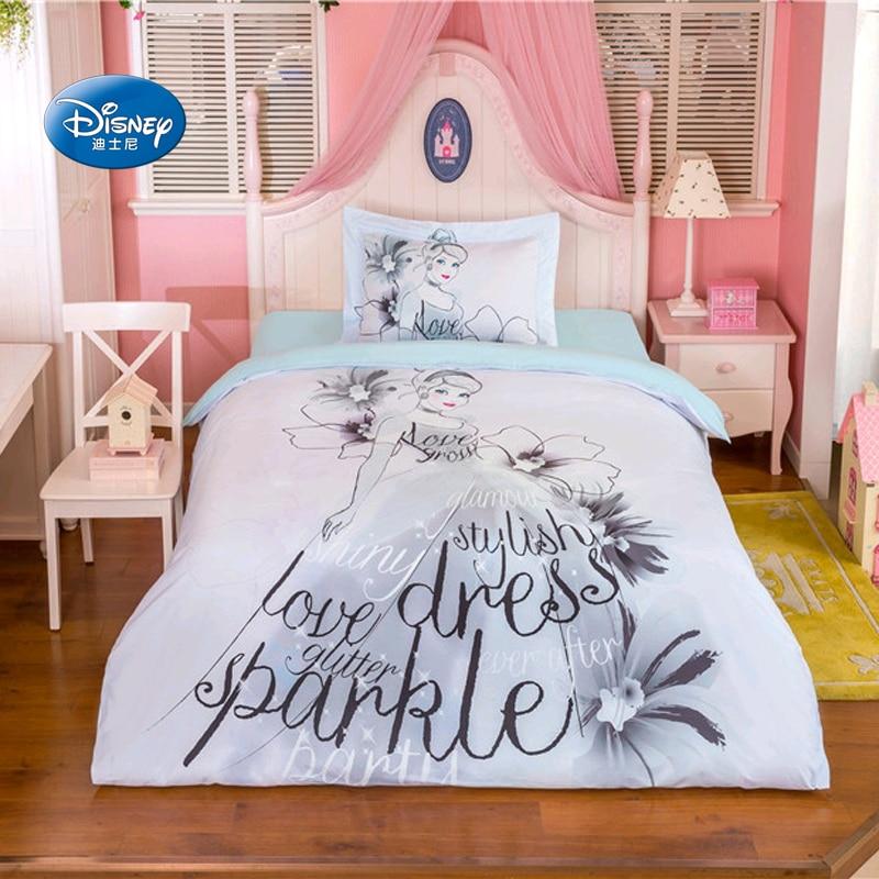 US $64.39 30% OFF|Disney Sketch Princess Bedding Sets Girl\'s Children\'s  Bedroom Decor 100% Cotton Bedsheet Duvet Cover Set 3/4pcs Twin Queen  Size-in ...