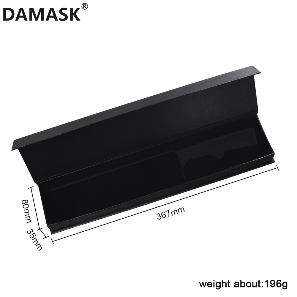 DAMASK Knife Box 6/8 Inch Stainless Steel Knives Boxes Damascus Steel Kitchen Knife Flip Cover Magnetic Clamshell Case For Gift