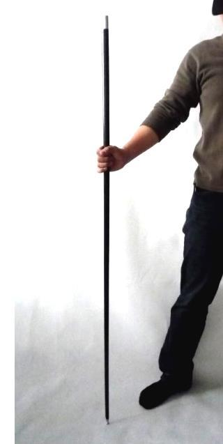 """Free shipping 43-1/4"""" Black Metal Appearing Cane Magic Wand For Professional Magician Stage Close-up Magic Trick Magic Accessory"""
