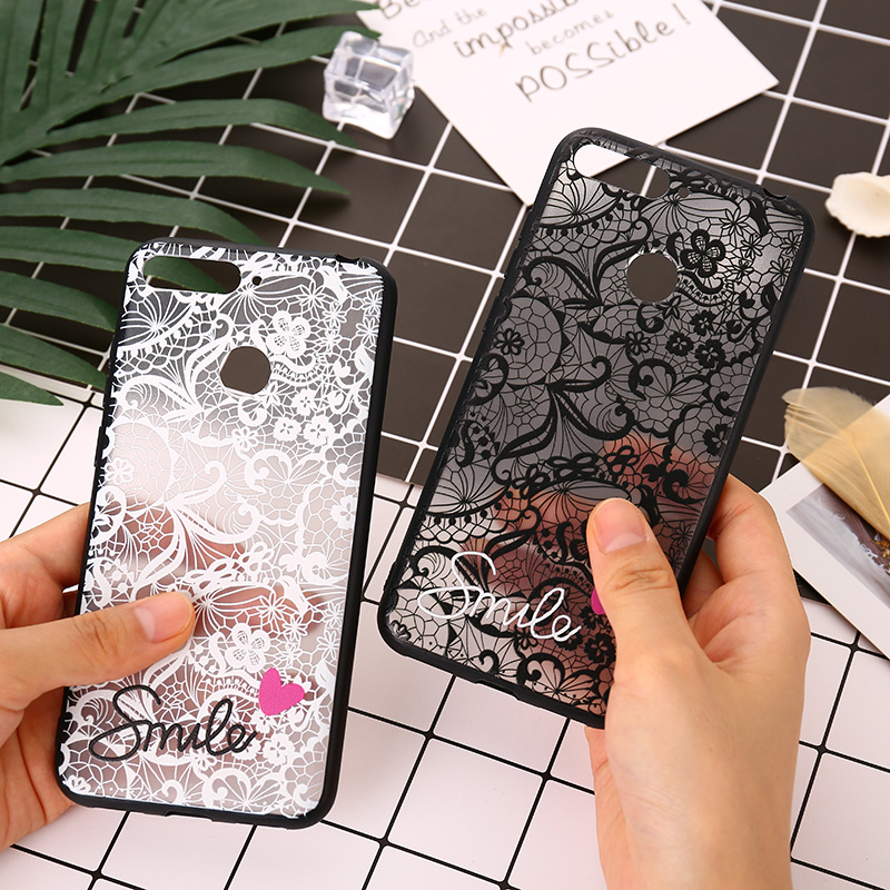 <font><b>Sexy</b></font> Retro Lace Case For Huawei Y5 Y6 Y7 Prime 2018 Nova 3i 3 P10 P20 <font><b>Mate</b></font> 10 <font><b>20</b></font> Lite PC+TPU On Honor 7S 7X 7A 7C Pro 9 10 Lite image