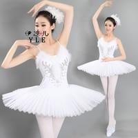 Adult Professional Ballet Dance White Swan Lake Tutu Ballet Costume Hard Organdy Platter Dance Dress Ballerina