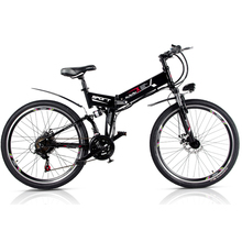 26 inch folding mountain electric bicycle 48V lithium battery 21 speed variable speed system bike PAS cycling smart Lcd ebike