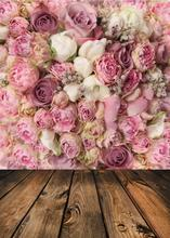 SHENGYONGBAO Vinyl Custom Photography Backdrops Prop For Photo Studio Pink Rose Backgrounds  MG-04