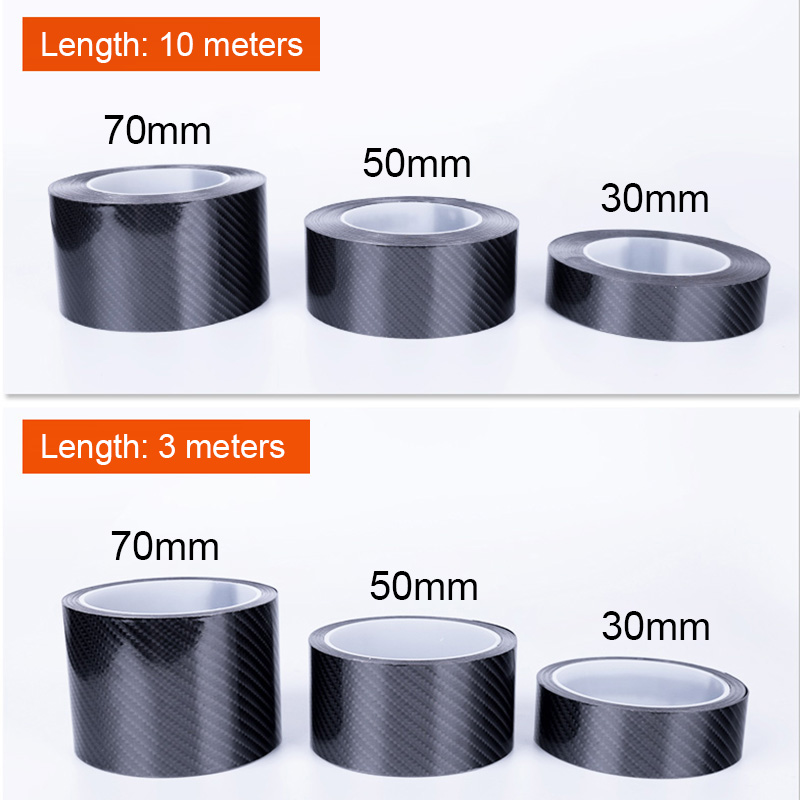 Image 2 - Car Styling Carbon Fiber Wrap 5D Car Door Protector Car Door Sill Strips Protector Carbon Fiber Vinyl Film Auto Bumper Stickers-in Car Stickers from Automobiles & Motorcycles