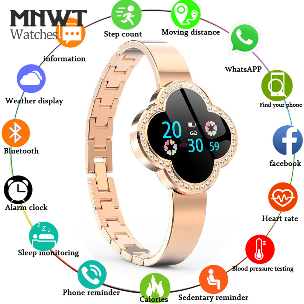 MNWT S6 Smart Watch Waterproof Women Heart Rate Monitor Blood Pressure Fitness Tracker Smartwatch Sport Watch for ios android smael 1708b