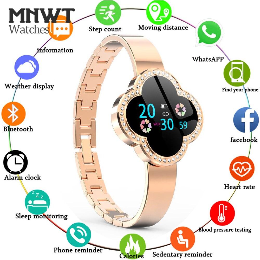 MNWT S6 montre intelligente étanche femmes moniteur de fréquence cardiaque pression artérielle Tracker Fitness Smartwatch Sport montre pour ios android