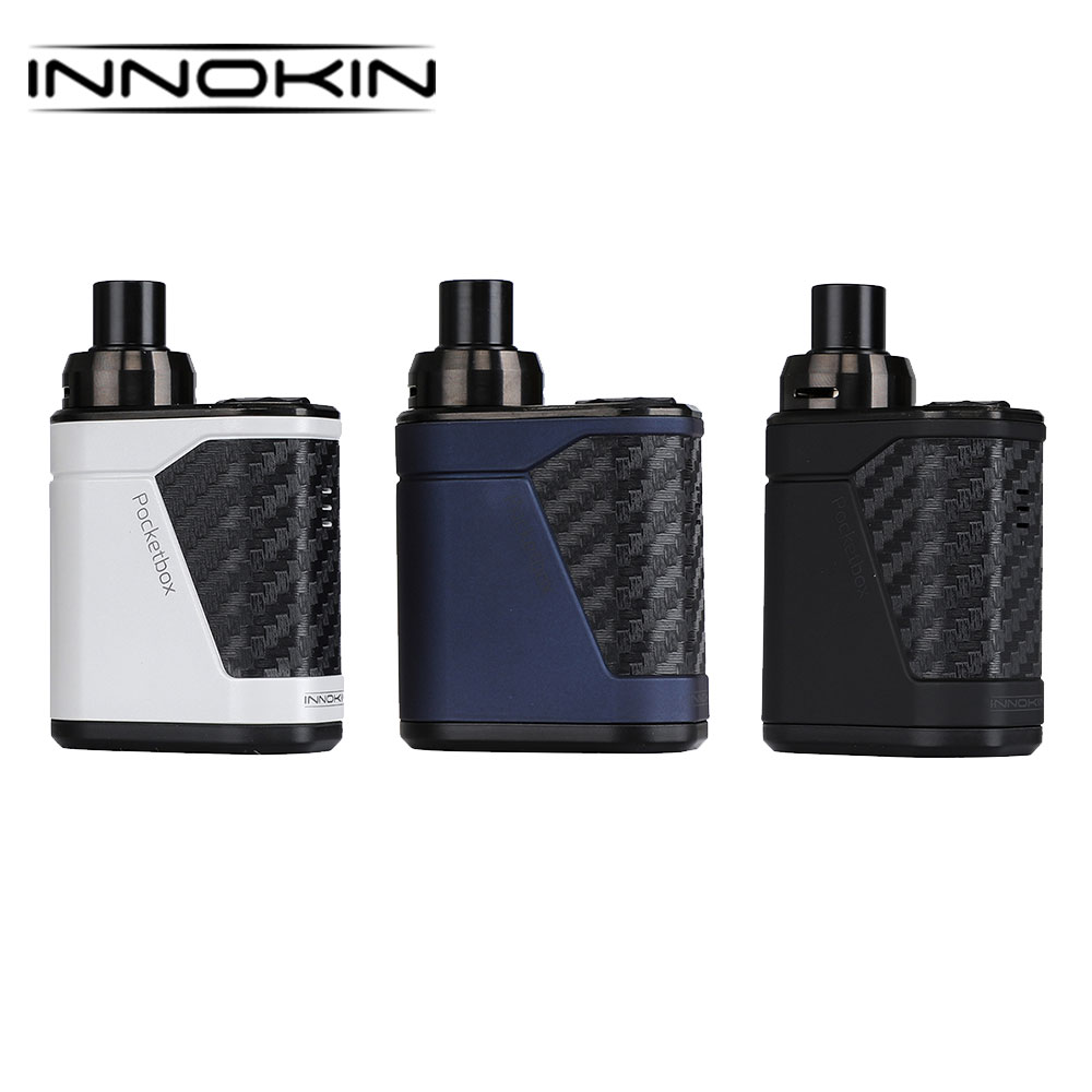 Original 40W Innokin Pocketbox Starter Kit with 2ml Capacity Tank & 0.35ohm DL Coil & 1.2ohm MTL Coil with Built-in 1200mAh Ecig стоимость