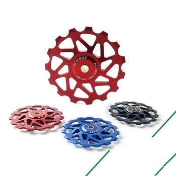Dial de bicicleta de montaña más tarde, cerámica de rueda guía de rodamiento 15 T 15 dientes, accesorios de rueda guía de transmisión de Metal