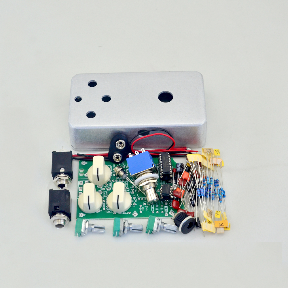DIY Delay pedal Guitar Effect  Pedals  kit with pre-drilled enclosure  Electric Effects  Suite Delay -1 pedals diy overdrive guitar effect pedal kit true bypass with 1590b box for electric guitar stompbox pedals od1 kits