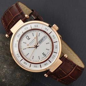 Image 1 - Julius Homme reloj de cuarzo japonés para hombre, reloj Retro de moda, de cuero, regalo de cumpleaños, Navidad padre, 059