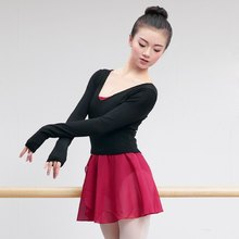 Women V Neck High Waist Dance Sweater Ballet Clothing Autumn Winter Practice Clothes