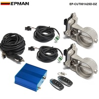 EPMAN Exhaust Control Valve Dual Set W Remote Cutout Control For 2 5 63mm Pipe 2