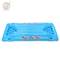 Inflatable blue Beer Pong Ball Table Water Floating Raft Lounge Pool Drinking Game 24 Cups pool float party water toys adult