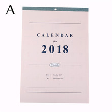 Daily Table Planner Large Calendar Wall Calendar Planner 2018 Agenda Planner Organizer Calendario Size:42*29.8cm