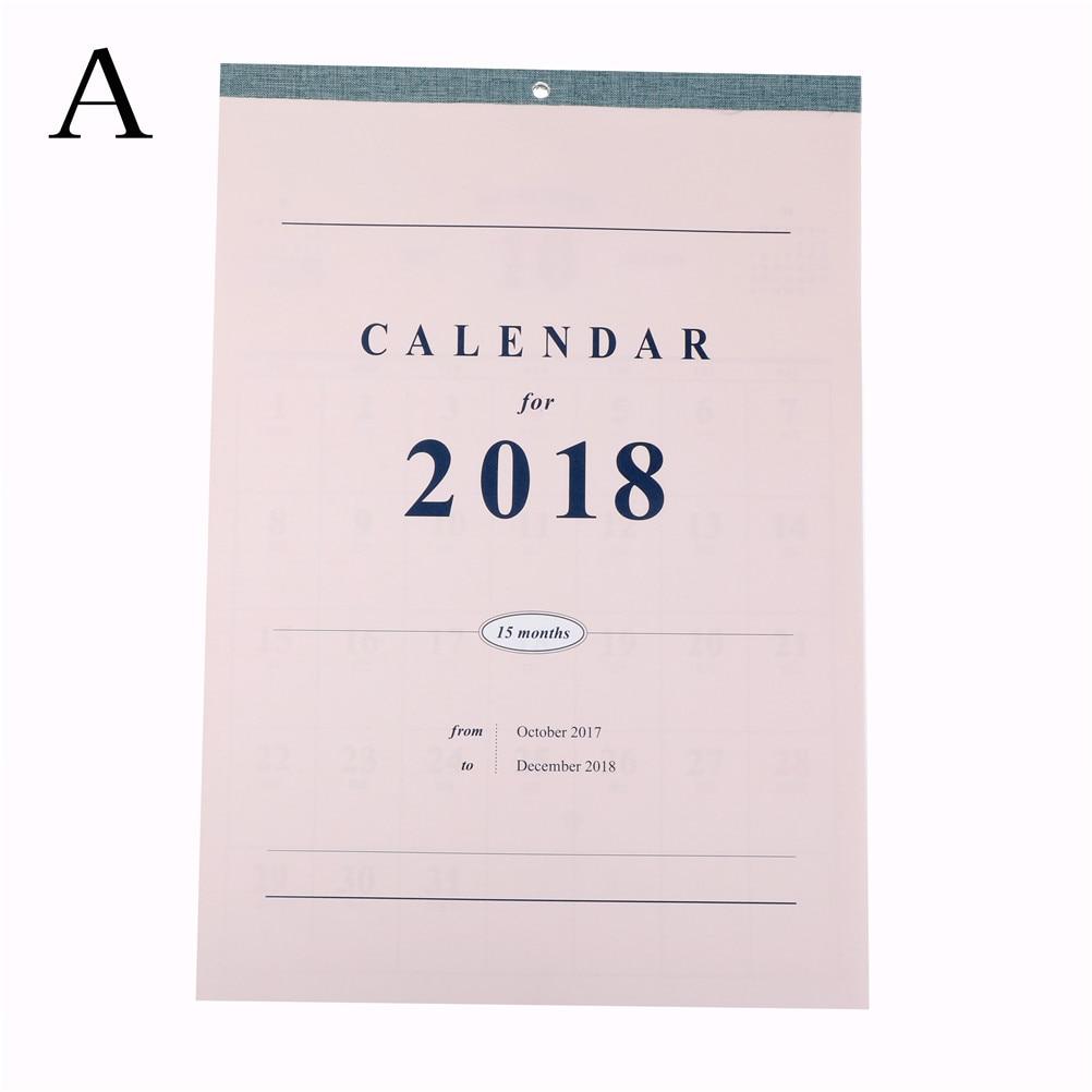 Täglichen Tisch Planer Große Kalender Wand Kalender Planer 2018 Agenda Planer Organizer Calendario Größe 42*29,8 Cm ZuverläSsige Leistung Office & School Supplies