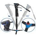 Envío Libre de DHL Benro A49TDS4 Aluminio Monopod Para DSLR Vídeo cámara S4 Trípode Joby 5 Sección de Bolsa de Transporte de Carga Máxima 4 kg