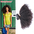 Sunny Queen Hair Products 6A 3 unids pelo virginal ruso teje Afro rizado Curly Hair Bundles ruso pelo rizado Afro rizado teje