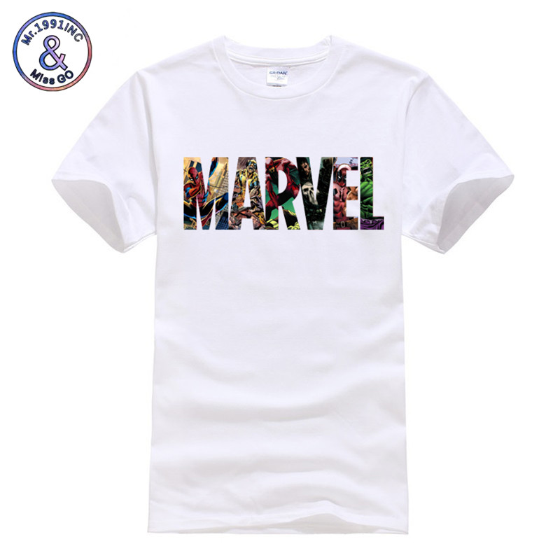 Marvel Superhero T Shirt The Avengers Men/Women Casual Tshirt Fashion Brands Men's T-shirts Cotton Short Sleeves Summer T-Shirt