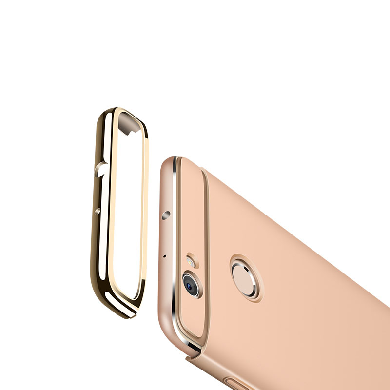 Huawei Honor 8 Lite Case Bag Cover 3in1 Full Protection luxury Plating Housing For Honor 8 Hobor8 Phone Back Cases Coque Fundas in Half wrapped Cases from Cellphones Telecommunications