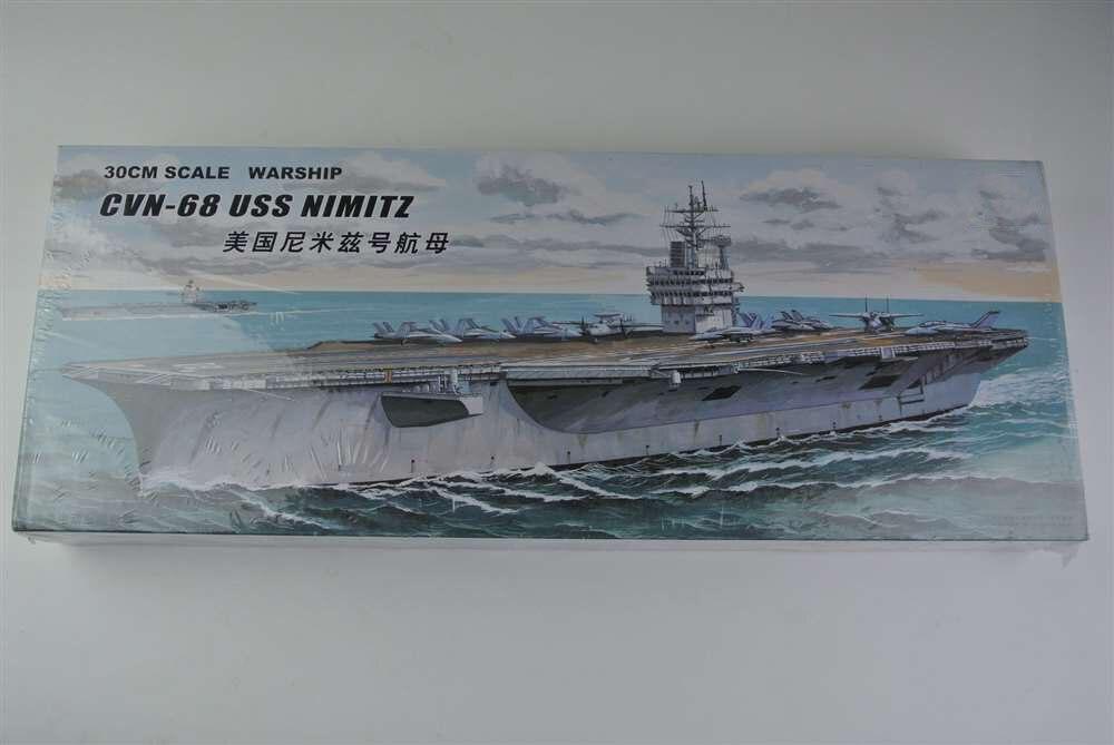 letadlová loď nám nimitz - 30CM Warship CVN-68 USS NIMITZ Aircraft Carrier Plastic Assembly Model Electric Toy XC80903