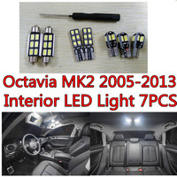 7pcs X Free Shipping Error Free LED Interior Light Kit Package For Skoda Octavia Eaccessories 2005