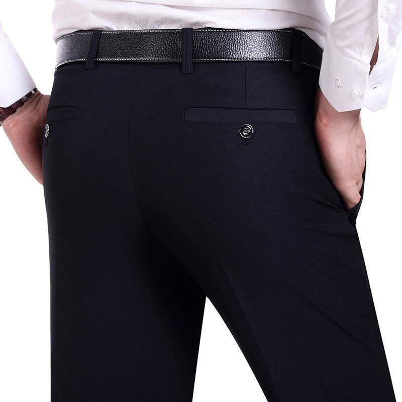 Anzug Hosen Männer Mode Kleid Hosen Social Mens Dress Hosen Schwarz - Herrenbekleidung - Foto 2