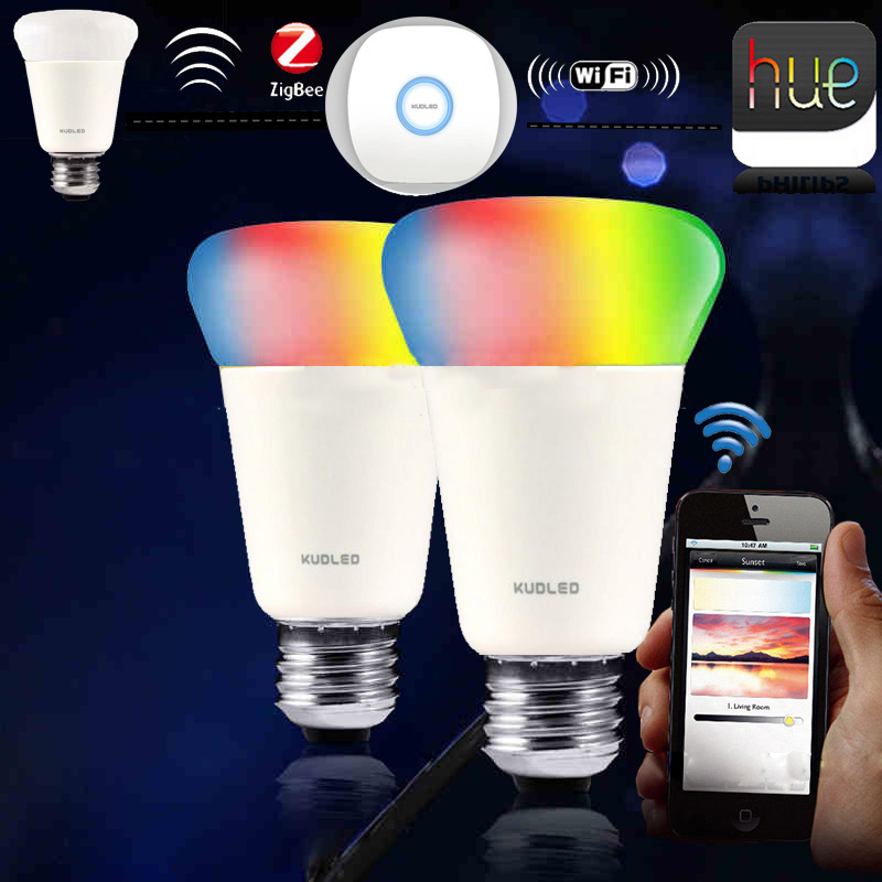 ФОТО Zigbee 9 Smart Bulb Compatible with Philips Hue bridge 1.0 or 2.0  and Homekit control Smart Home Phone APP Control