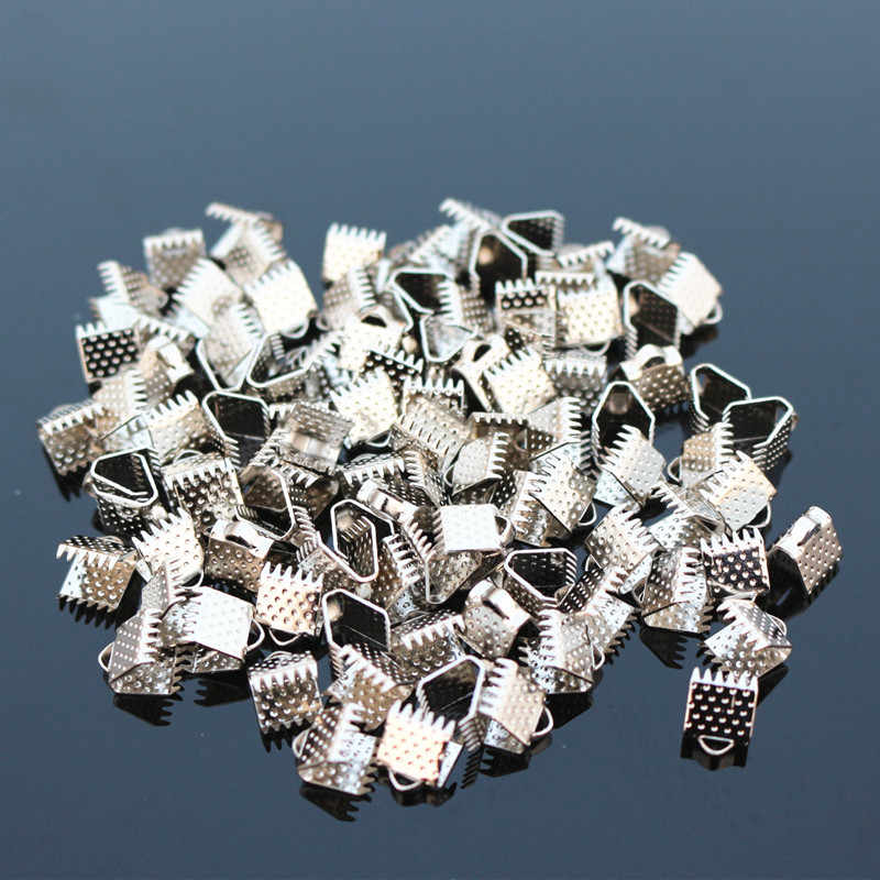 D009 100 pcs/pack Strukturierte End Caps Crimp Perlen Verschluss Fit Schmuck Herstellung Schmuck Erkenntnisse & Komponenten Zubehör 2017 HEIßER Verkauf