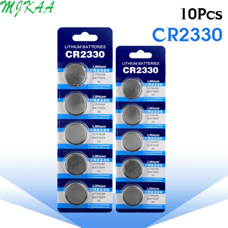 10pcs/pack CR2330 Button Batteries BR2330 ECR2330 Cell Coin Lithium Battery 3V CR 2330 For Watch Electronic Toy Remote image