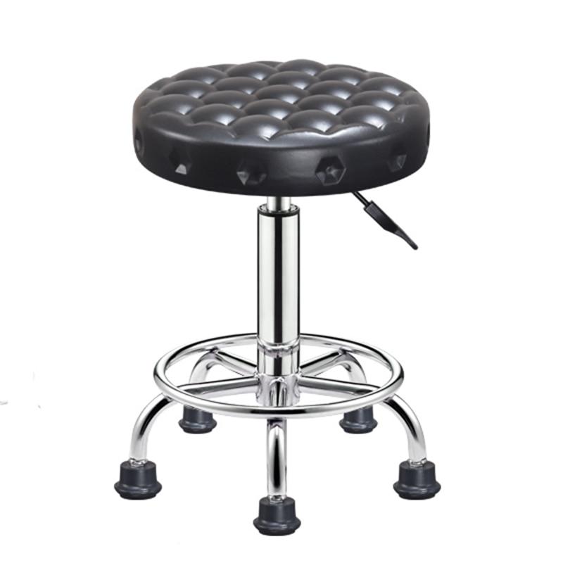 Salon Rolling Swivel Stool Tattoo Massage Spa Chair Height Adjustable For Bathroom