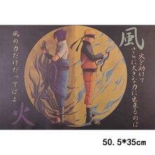 Anime Naruto Vintage Poster Bar decor Cafe Decor Unique home decor Wall Sticker 50.5X35cm