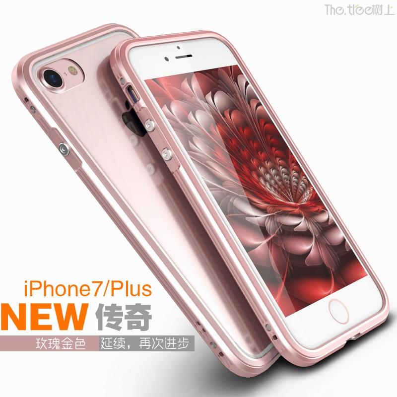 Luksusowy metalowy zderzak do obudowy iPhone 7 Przezroczysta obudowa - Części i akcesoria do telefonów komórkowych i smartfonów - Zdjęcie 3