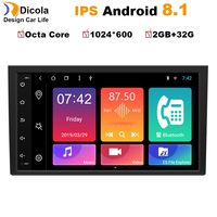 2+32G Octa Core 8 2 din Android 8.1 Car dvd For Audi A4 B6 B7 S4 B7 B6 RS4 B7 SEAT Exeo GPS RADIO multimedia navigation stereo