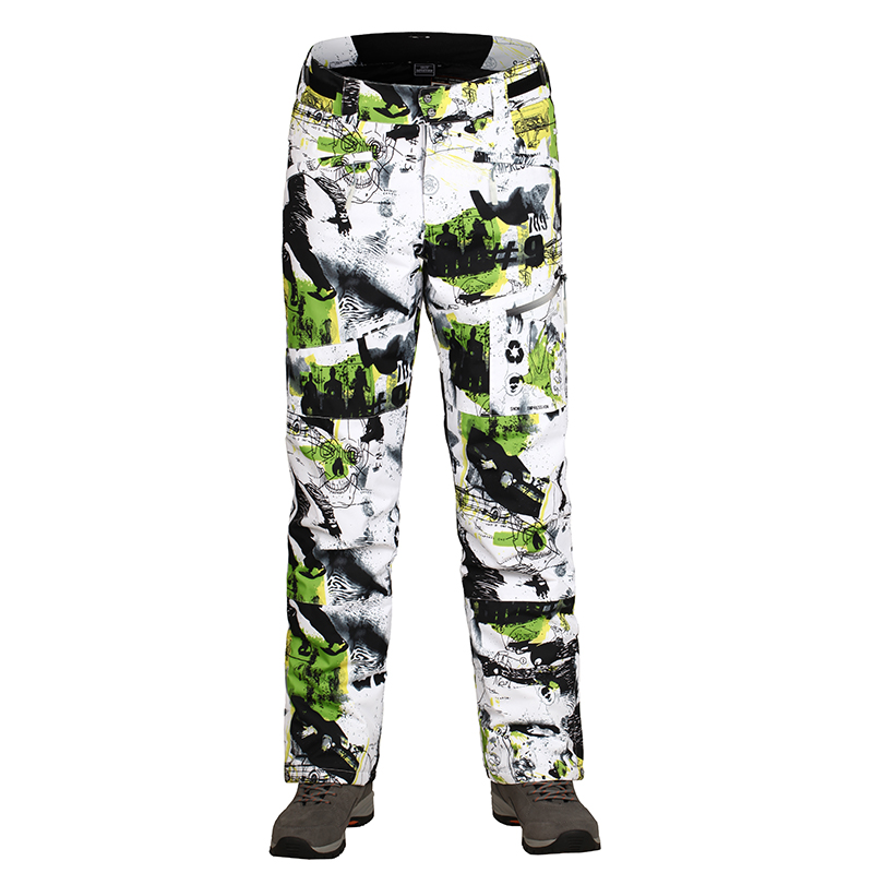 new style men snow ski pants winter pants for snowboarding super warm long trousers for men size S-XXL high quality thicken hot sports style owl printed lace up narrow feet long pants for men