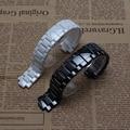 Высокое качество чистый керамический ремешок для часов белый черный часы ремешок ремешок Бабочки Пряжки для браслет мужчины 22 мм женщин 19 мм 1421 1426