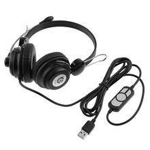ALLLOYSEED TC-Q4 USB Wired Gaming Headset Música Estéreo de Alta Fidelidade Headphone Earphone Headband Com Microfone Para PC Computador Portátil