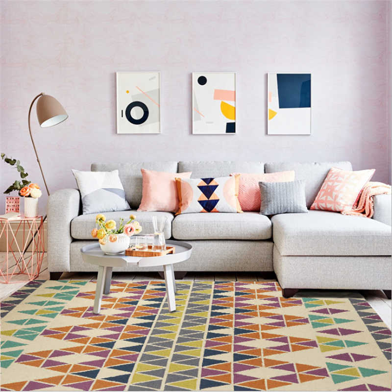 Скандинавский стиль минималистичный мраморный геометрический элемент шаблон ковры для гостиной ковер для детской комнаты Нескользящие коврики