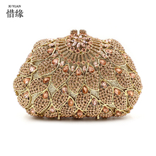 XIYUAN BRAND 2017 high quality and fashion European and American Style Hollow full diamond clutch evening
