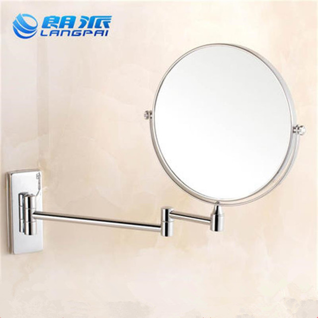HDM Bathroom Accessories Makeup Mirror Pull Out Wall Mounted 360 Degree Rotate Cosmetic