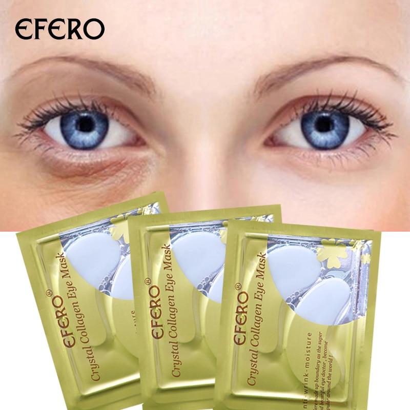 16pcs/8pair EFERO Collagen Eye Mask Gel Patches Under Pads Moisturizing Anti Aging Care Sheet Dark Circles Remover